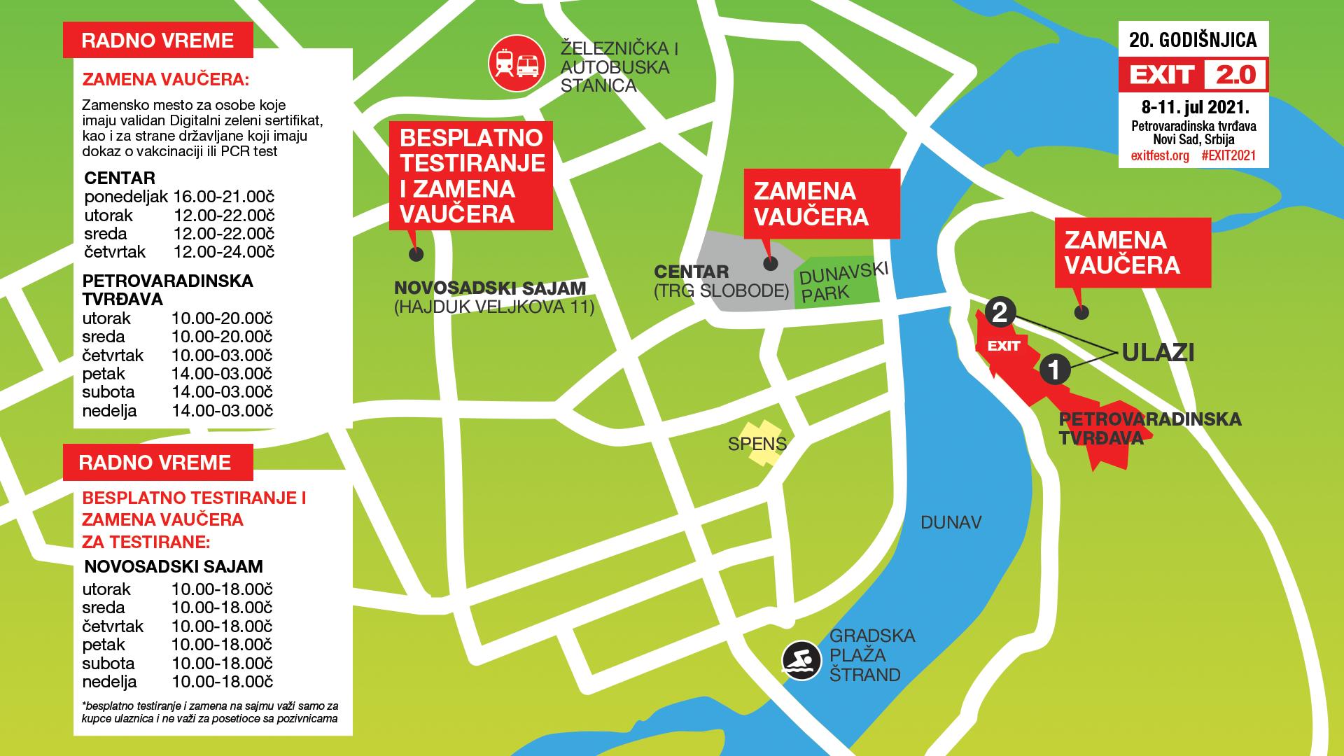 Mapa - zamenska mesta